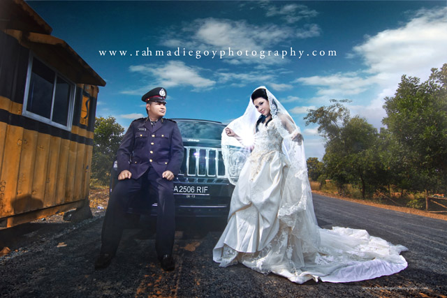 foto prewedding konsep tema polisi 1