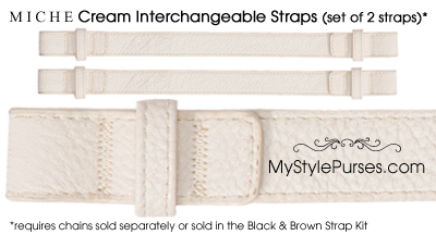 Miche Cream Interchangeable Handle Straps