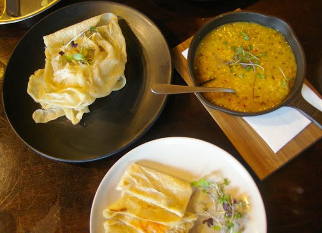 Pavlov's Duck, Fitzroy, Sri Lankan, Godhamba roti with dhal
