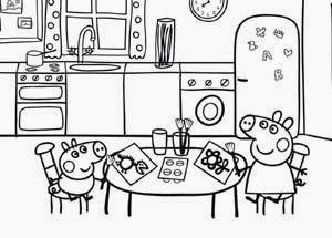 Peppa pig forever peppa pig para colorir - Dibujos de cocina para pintar ...