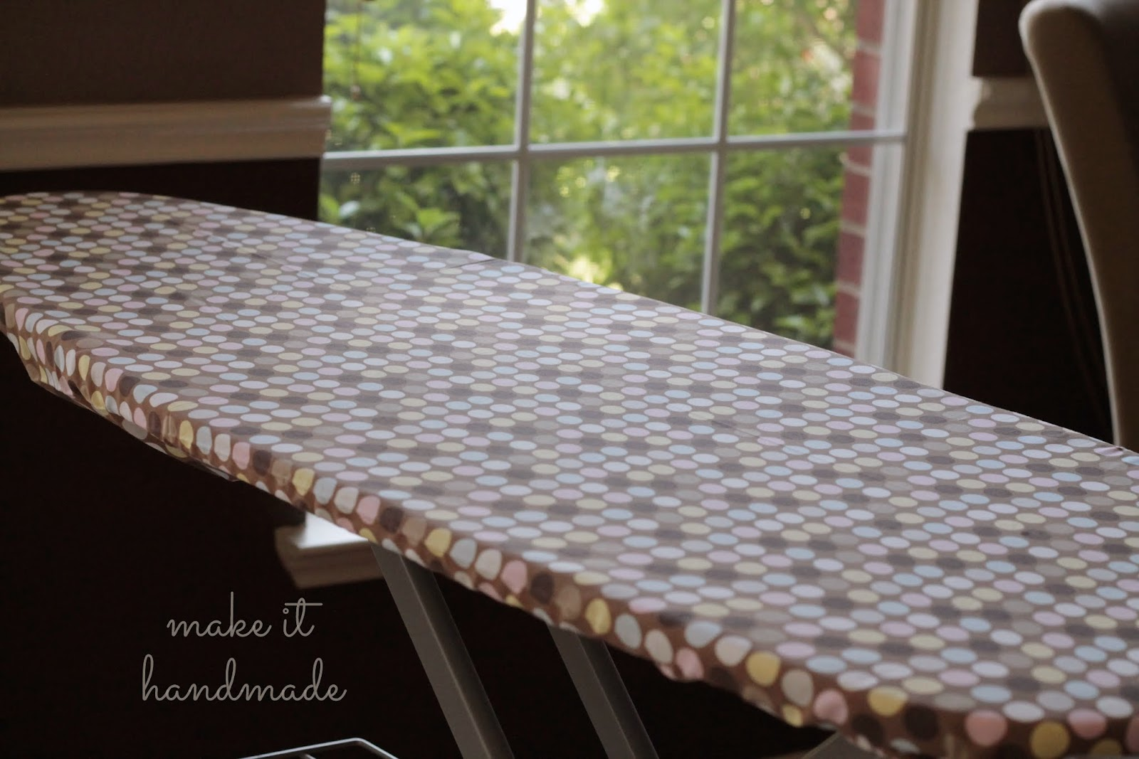 make it handmade the easiest ironing board cover ever. Black Bedroom Furniture Sets. Home Design Ideas