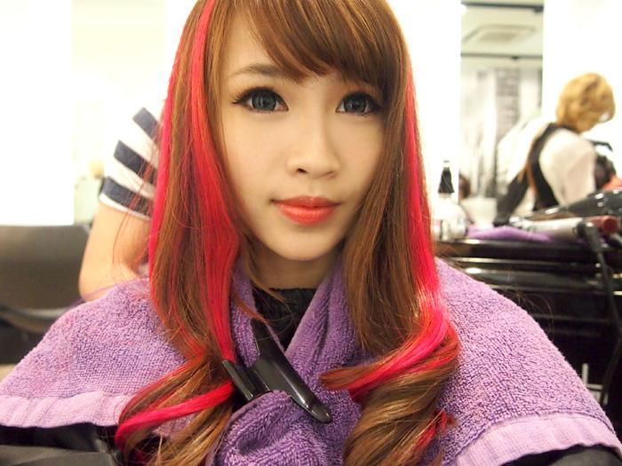 Bb cream korean sponsored post salon vim craycray bright pink highlights i have purple on the inside too xd pmusecretfo Gallery