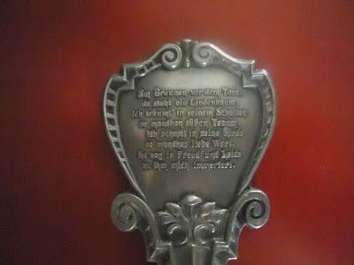 Unusual collectors engraved German spoon