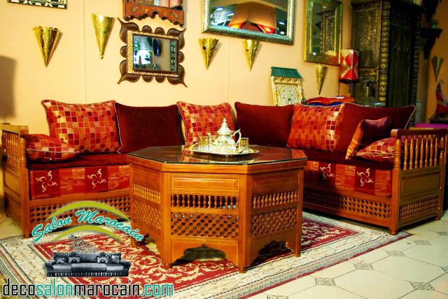 Shopping salon marocain traditionnel moucharabieh