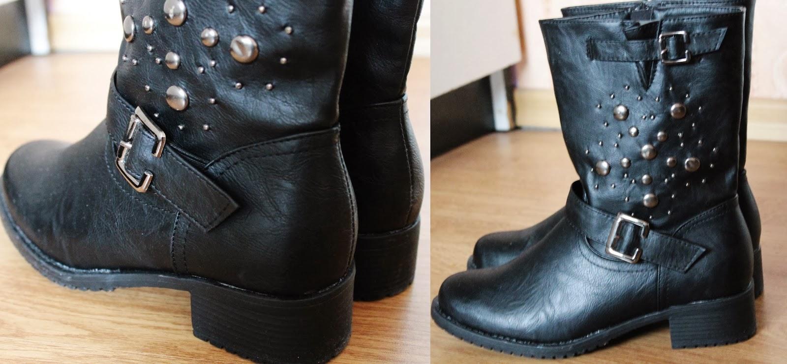 czarne botki na zimę