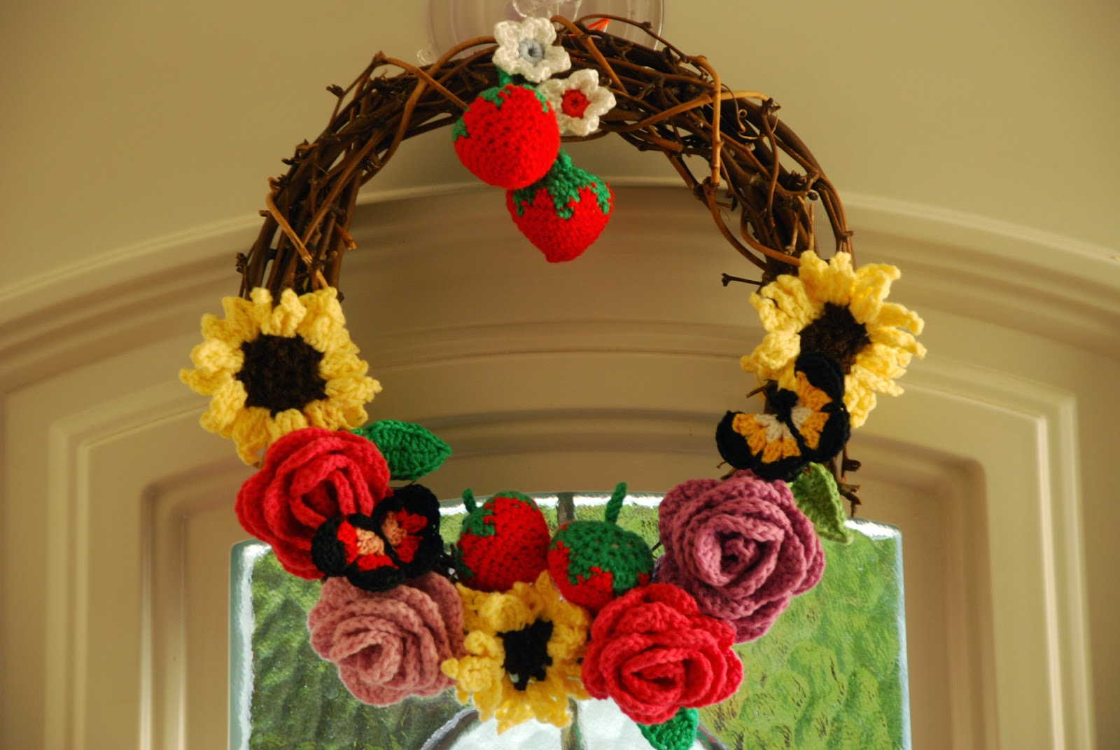 image of crochet summer wreath