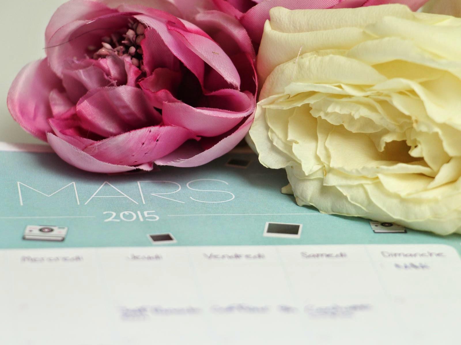 calendrier mars printable free