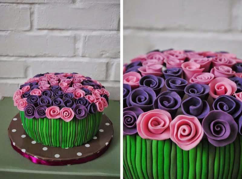 торт из мастики на день рождения женщине фото