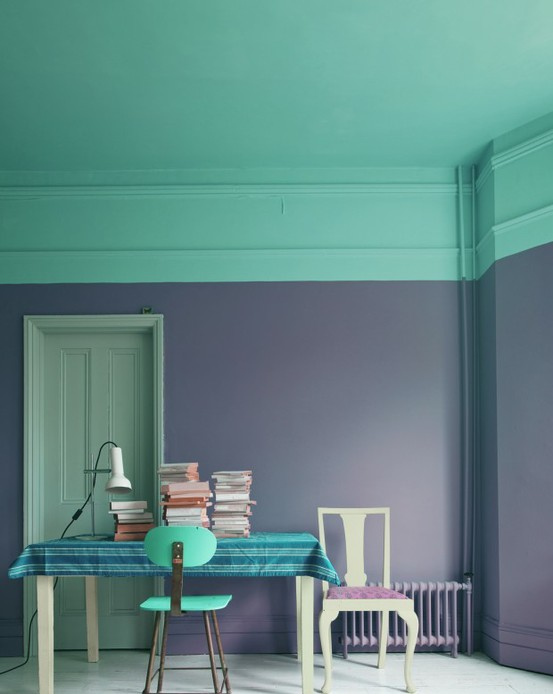 Painted Rooms mint green wall paint. small bathroom paint ideas green kelly