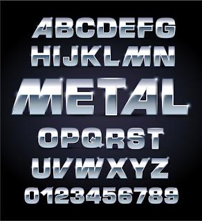 メタル テクスチャのフォント デザイン metal texture font design イラスト素材