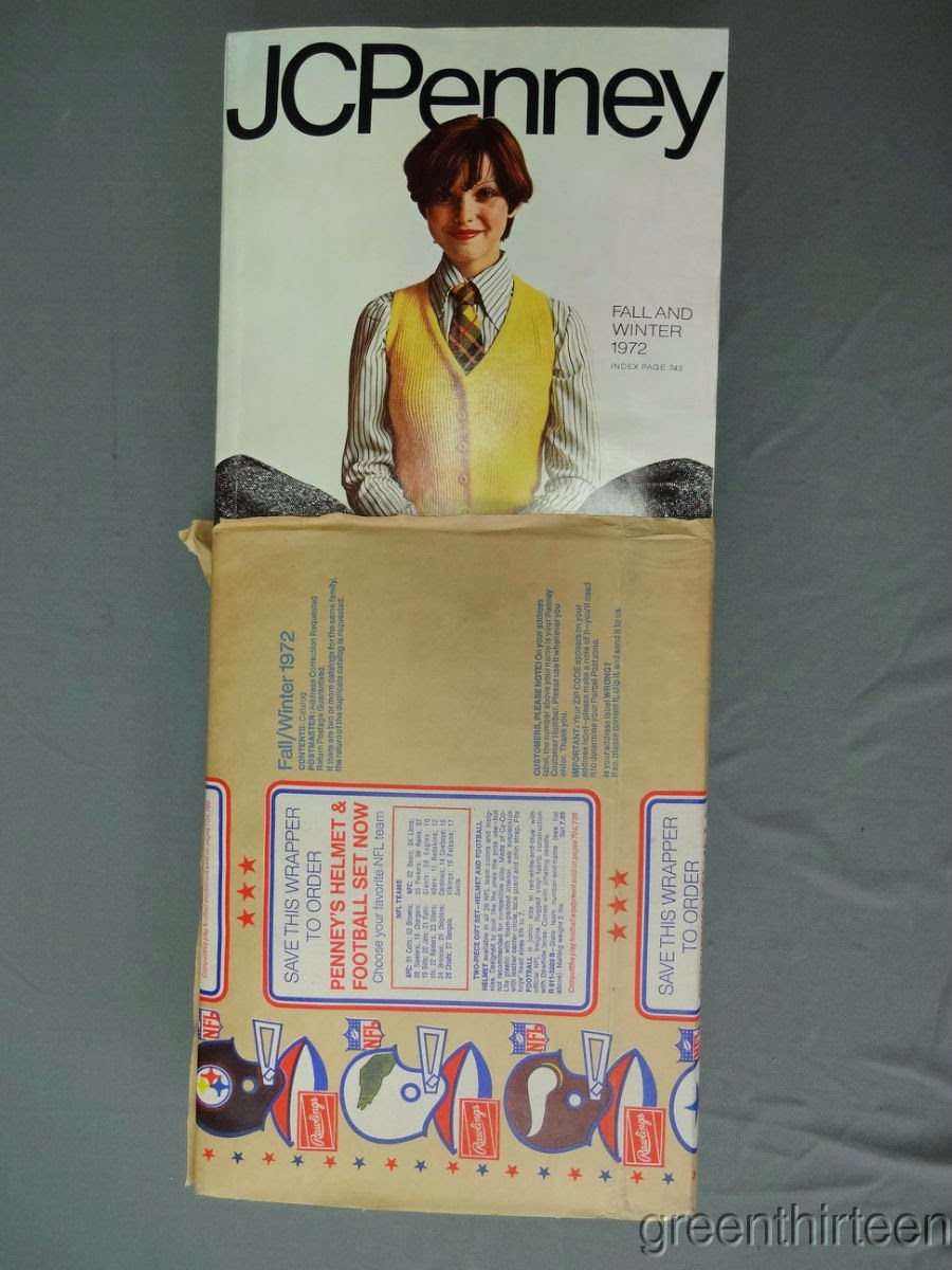 the fleer sticker project 1972 jc penney catalog with nfl wrapper
