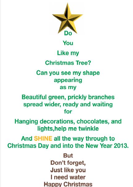 Christmas tree shape poem template maxwellsz