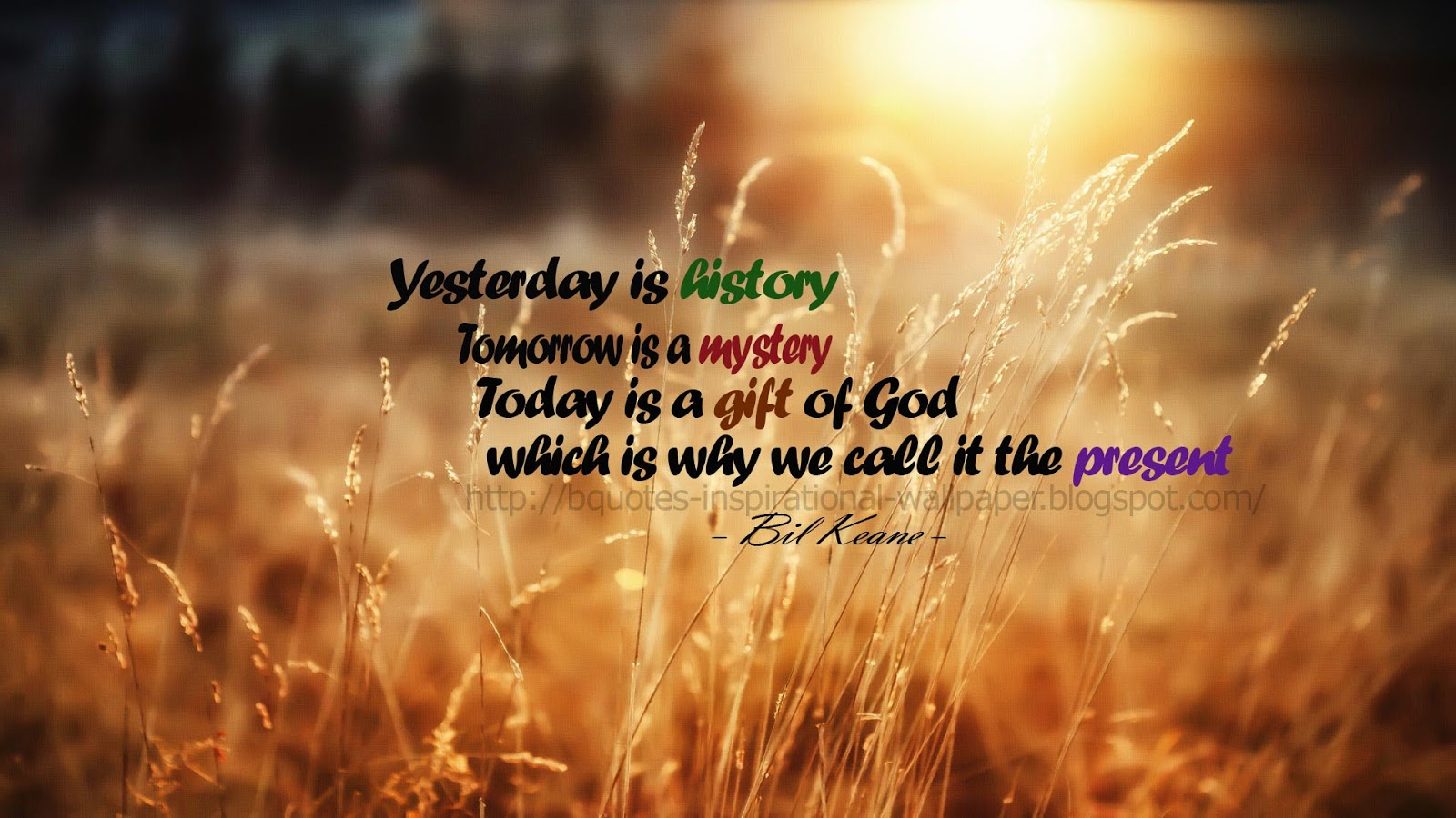 Quotes And Inspirational Wallpapers Yesterday Is History