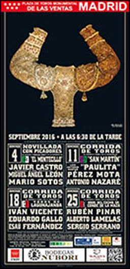 MADRID CARTELES DE SEPTIEMBRE 2016