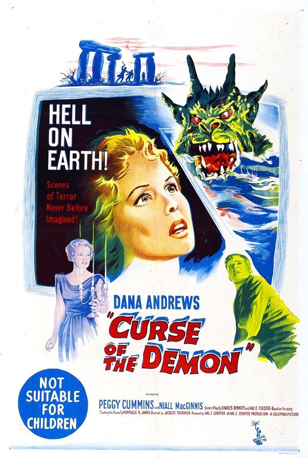 Póster de La noche del demonio (1957)