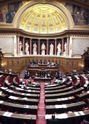 Vista geral do Senado francês, em Paris (Foto: EFE)
