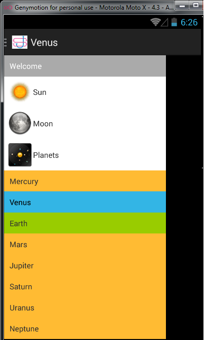 expandablelistview in navigation drawer android example 2