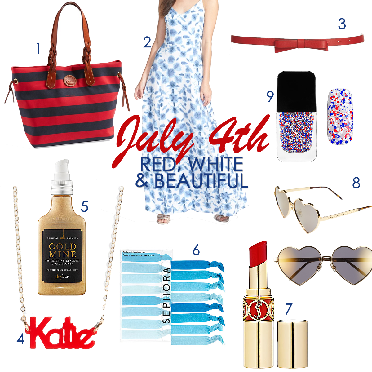 red white & blue shopping guide, 4th of july style, Independence Day shopping