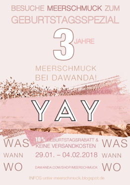 YAY - 3 JAHRE MEERSCHMUCK bei DAWANDA