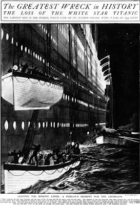 Titanic infographics. From 1912