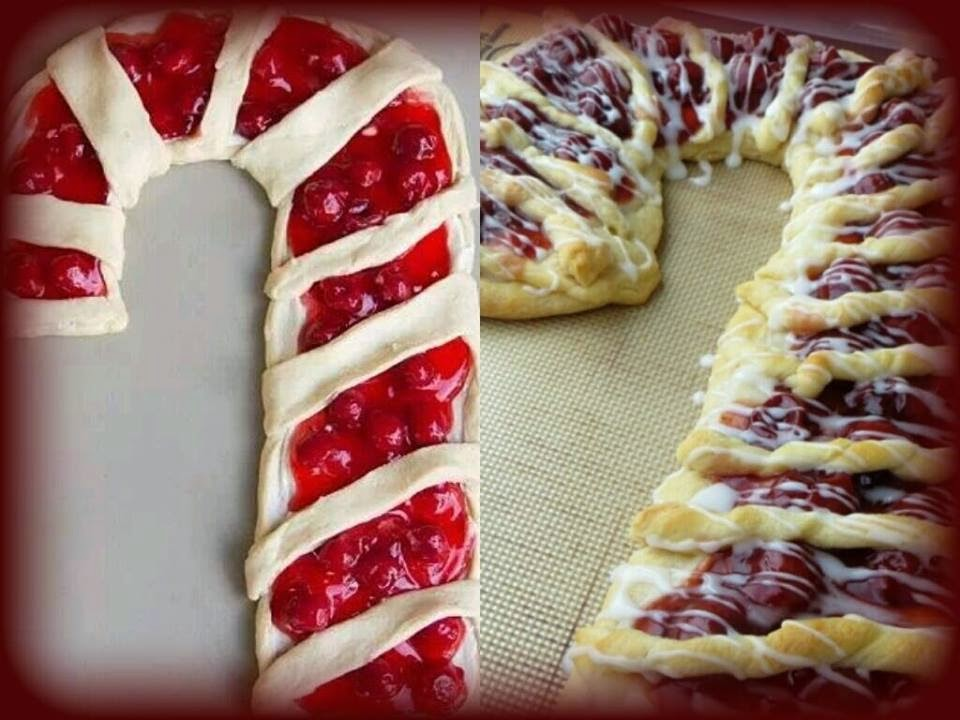 Candy Cane Fruit & Cream Cheese Danish