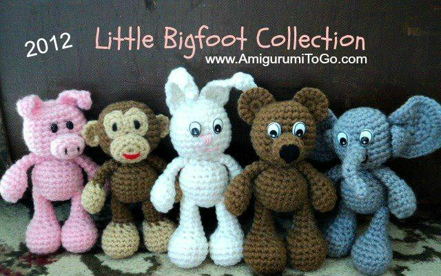 Amigurumi Little Animals : Redesigning Little Bigfoots ~ Amigurumi To Go