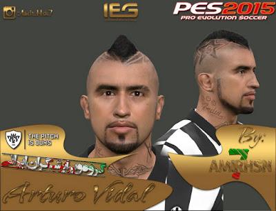 PES 2015 Arturo Vidal Face