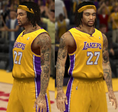 NBA 2K13 Jordan Hill CyberFace Patches Download