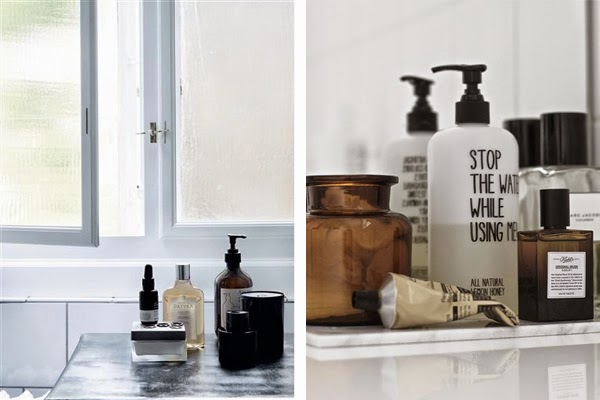bathroom details, bathroom inspiration, aesop, byredo, scandinavian interior, via  http://www.scandinavianlovesong.com/