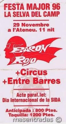 entrada de concierto de baron rojo