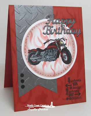 NCC King of the Road, NCC Custom Happy Birthday Die, Card Designer Angie Crockett