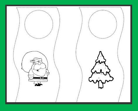 Learning Ideas Grades K 8 Christmas Doorknob Hangers