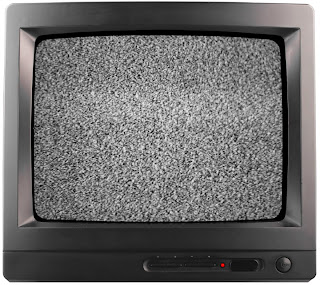 A television with static