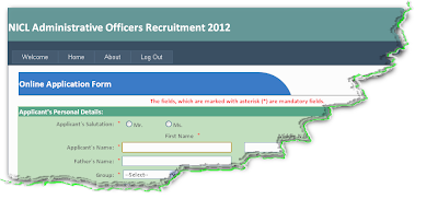 National Insurance Recruitment 2012 Online form