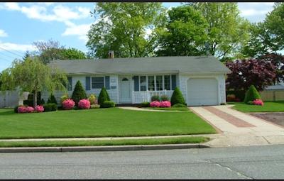 Rumah minimalis dengan halaman luas