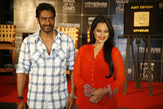 Ajay Devgn And Sonakshi Sinha Unveil Their Handprints For Walk Of The Stars