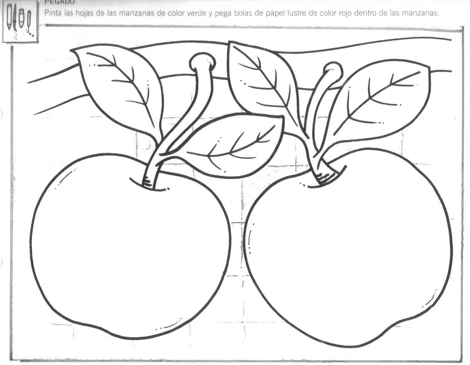 Perfecto Manzana Hojas De Trabajo De Preescolar Inspiración - hojas ...