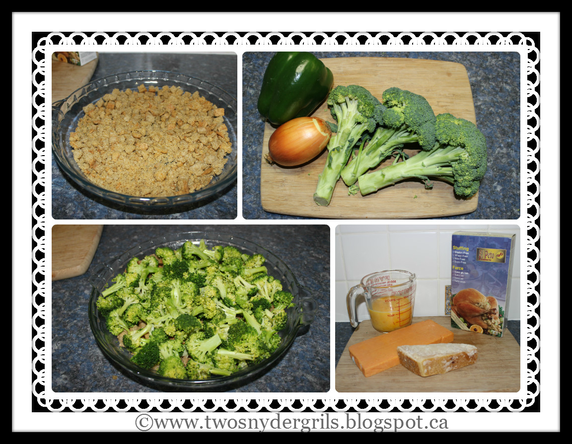 Ingredients in vegetable quiche