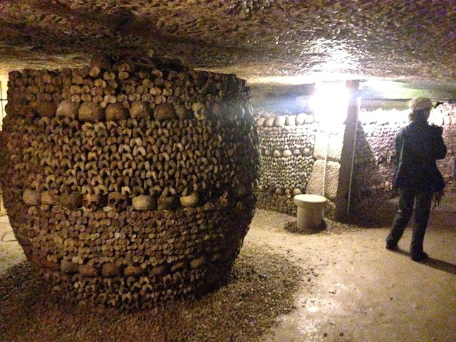 paris underground catacombs grave skulls and skeletons