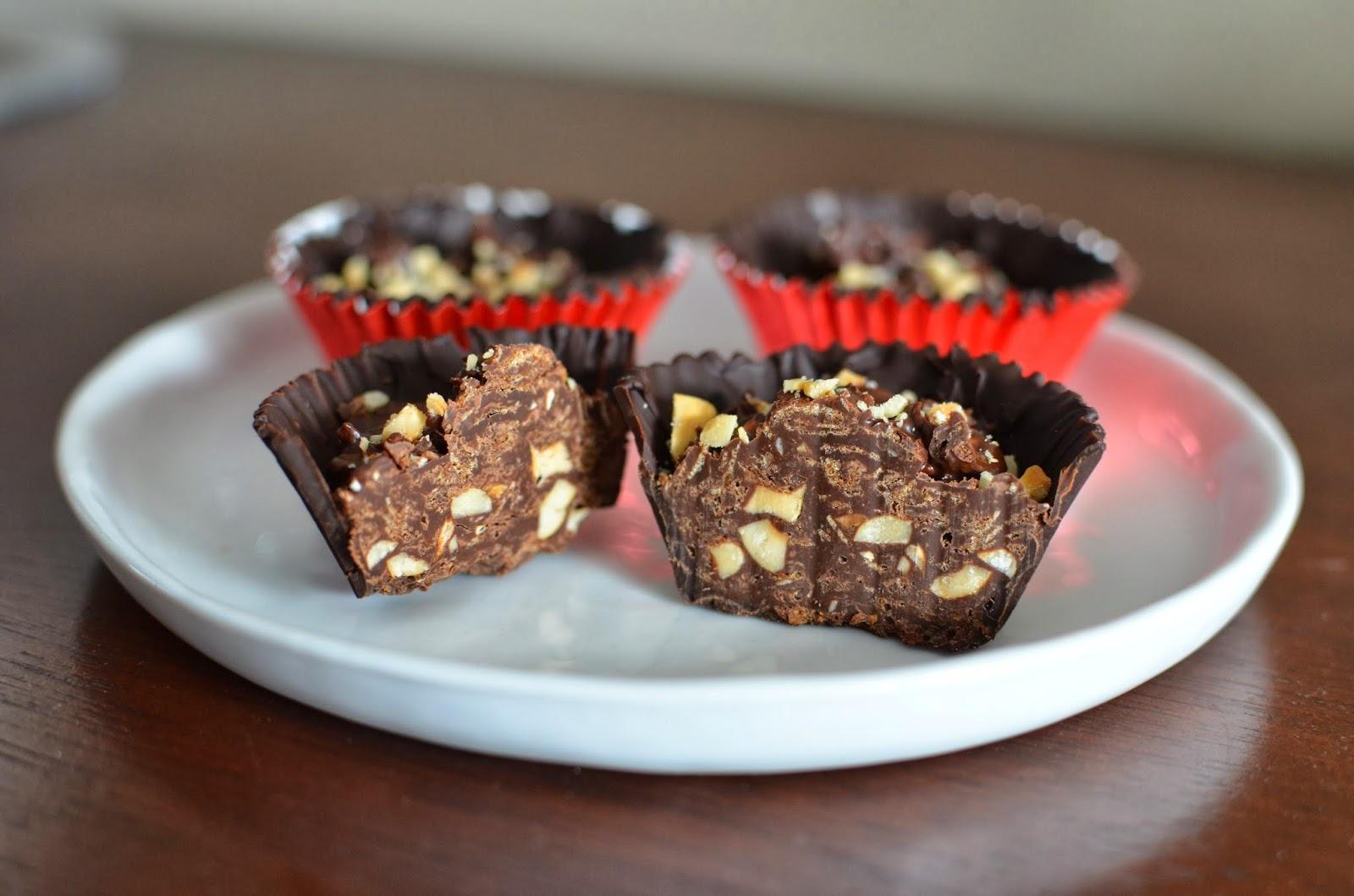 Chocolate-Hazelnut Mousse-Filled Cups Recipe — Dishmaps