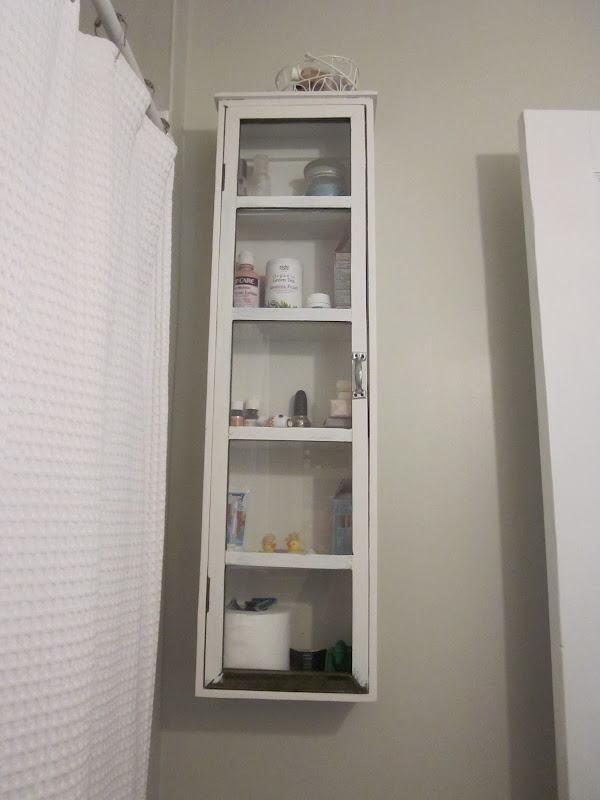White Bathroom Wall Cabinet Over Toilet