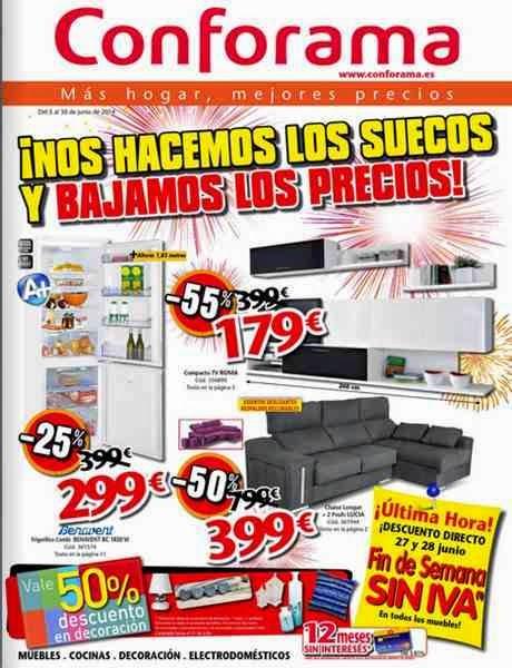 rebajas de muebles y electro conforama 6-2014