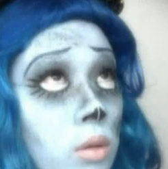 corpse bride Emily makeup style for girls