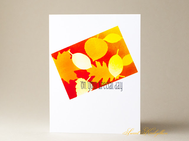 Greeting Card by Sweet Kobylkin with Falling Leaves from My Favorite Things