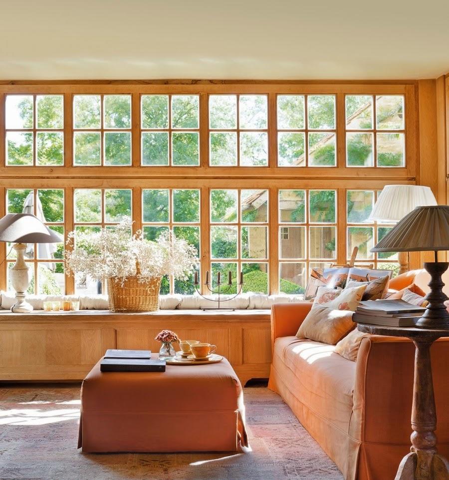 domek na wsi, wnętrza, dom, wystrój wnętrz, styl wiejski, styl rustykalny, salon