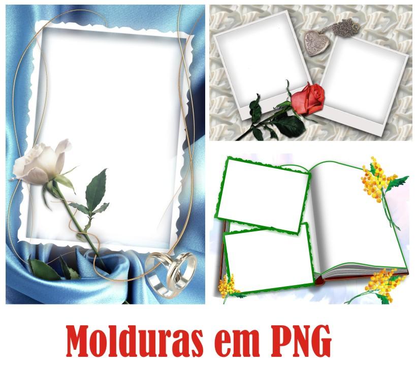 Molduras De Flores E Rosas Em PNG