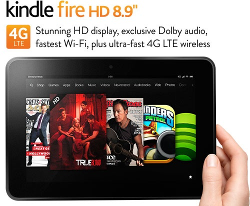 "Kindle Fire HD 8.9"" coupons, 32G"