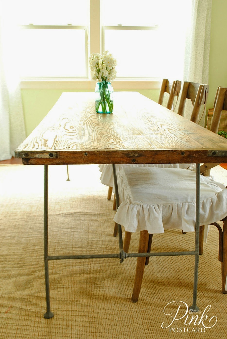 our new industrial farmhouse table Noble Vintage