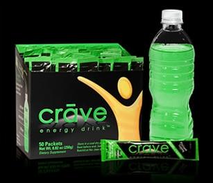 Échantillon gratuit de la boisson énergisante Crave