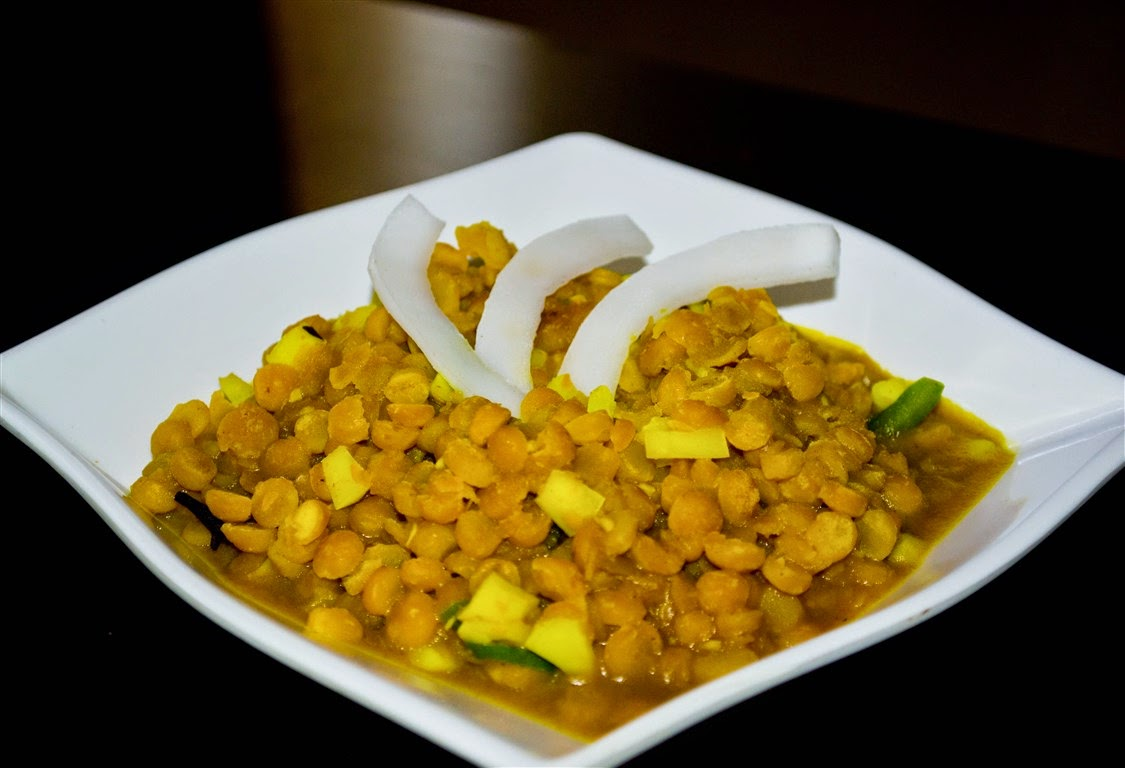 chana dal with coconut in Bengali style